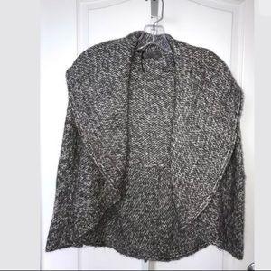 Anthro Elsamanda Gray Alpaca Sweater Chunky Knit